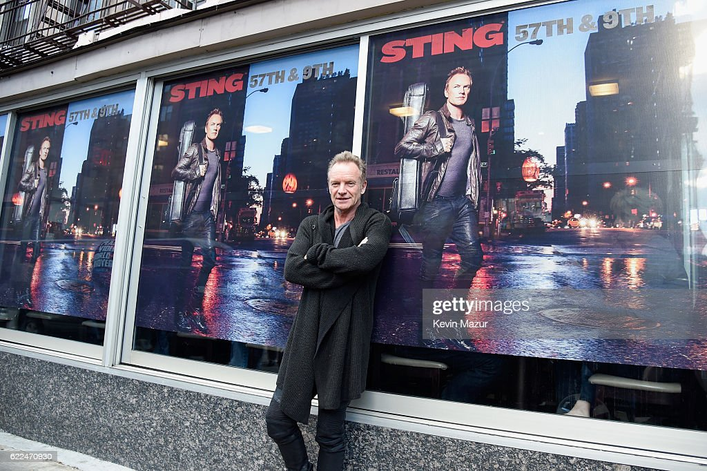 Sting Visits Morning Star Restaurant At 57th & 9th To Celebrate The Release Of His New Album : News Photo