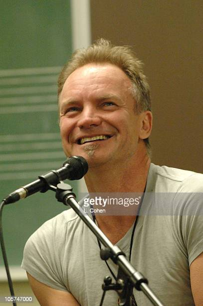 Sting while on the Broken Music Tour guest lectures at a music class at Boise State University He spoke about theory composition and his own...