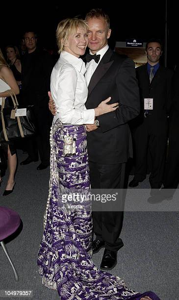 Sting wife Trudie Styler during 8th Screen Actors Guild Awards Backstage Creations Talent Retreat at Shrine Auditorium in Los Angeles California...