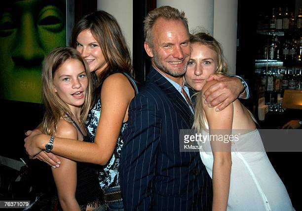 Sting with daughters Coco Mickey and Kate