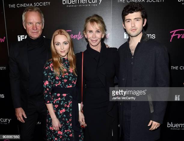 StingAnnaSophia RobbTrudie Styler and Ian Nelson attend The Cinema Society Bluemercury Host The Premiere Of IFC Films' Freak Show at Landmark...