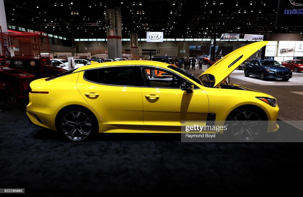Stinger GT is on display at the 110th Annual Chicago Auto Show at McCormick Place in Chicago, Illinois on February 9, 2018.