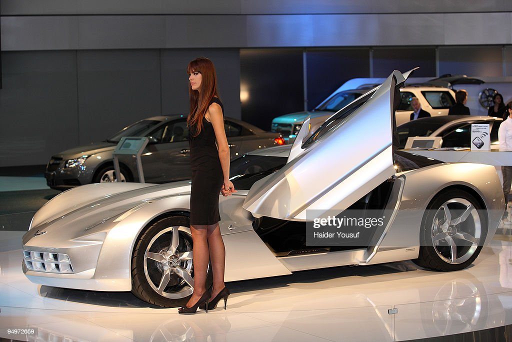 Stingray Corvette makes an appearance at the 10th annual Dubai International Motor Show on December 20, 2009 in Dubai, United Arab Emirates.