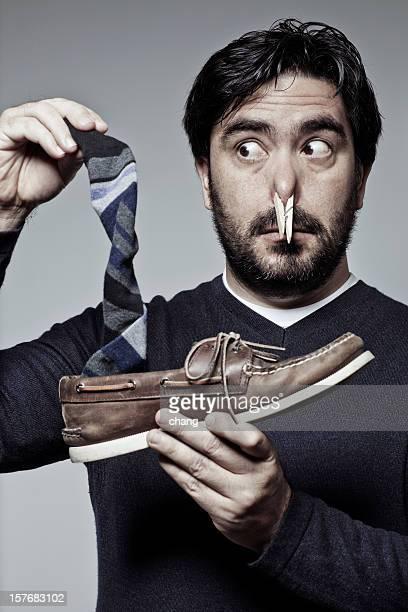 Stinkendem Schuhen und Socken