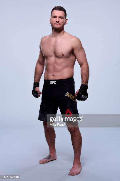 Stipe Miocic poses for a portrait during a UFC photo session on January 17 2018 in Boston Massachusetts