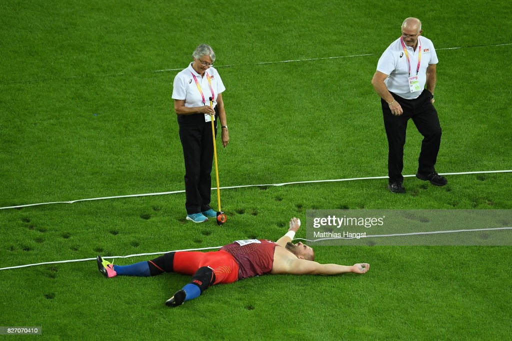 Stipe Zunic of Croatia competes in the Men's Shot Put final during day three of the 16th IAAF World Athletics Championships London 2017 at The London Stadium on August 6, 2017 in London, United Kingdom.