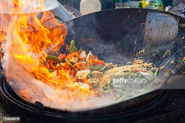 stir fry - stir fried stock pictures, royalty-free photos & images
