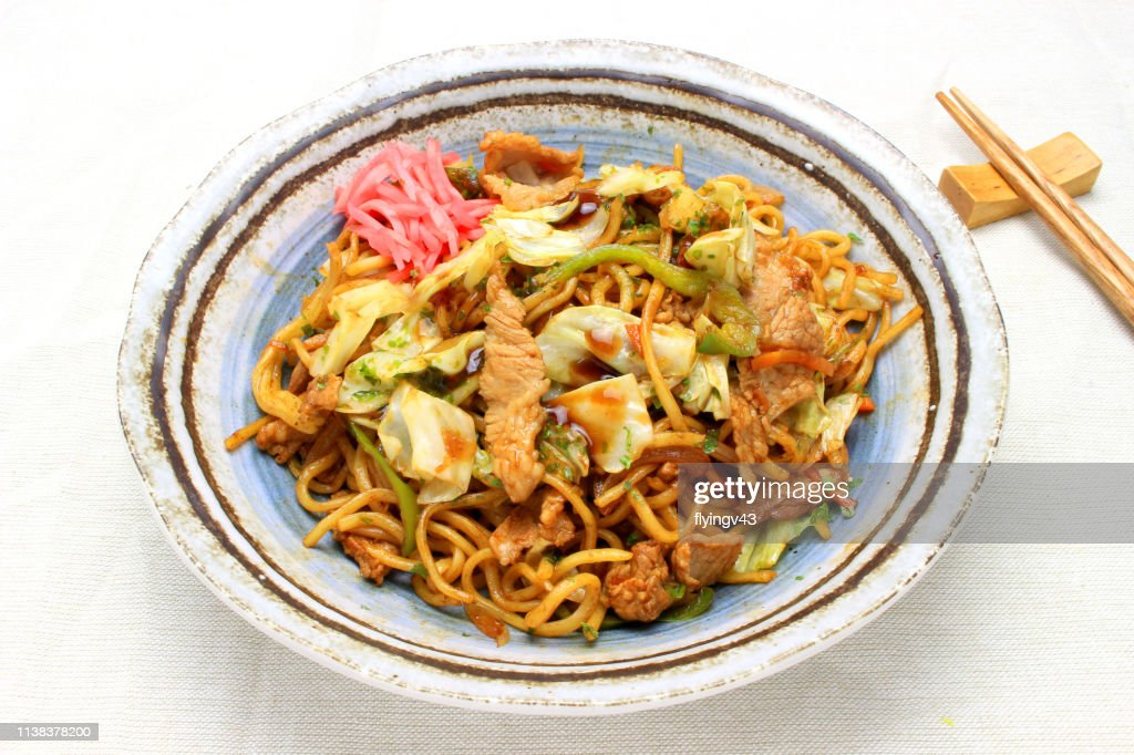 Stir-fry noodles : Stock Photo
