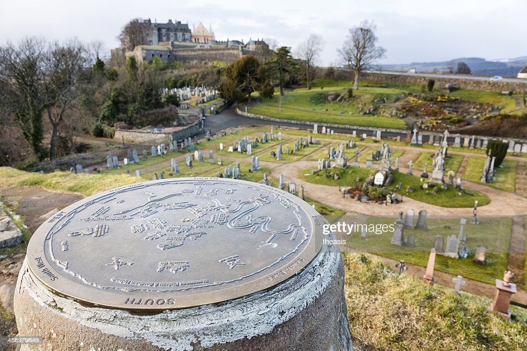 Stirling Castle From The Old Town Cemetery : Stock Photo