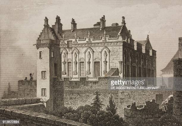 Stirling Castle Scotland United Kingdom engraving by Schroeder from Angleterre Ecosse et Irlande Volume IV by Leon Galibert and Clement Pelle...