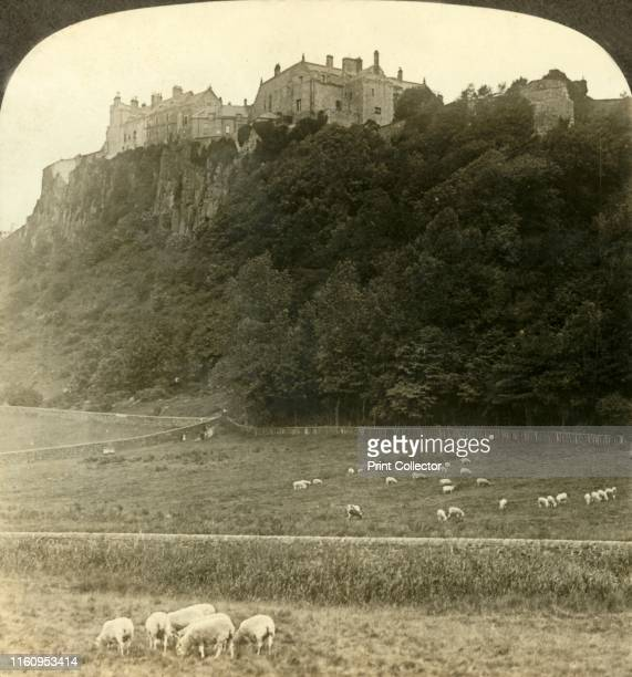 Stirling Castle the seat of oldtime kings seen from ancient tilting ground below Scotland' circa 1900 Situated on top of a volcanic outcrop known as...