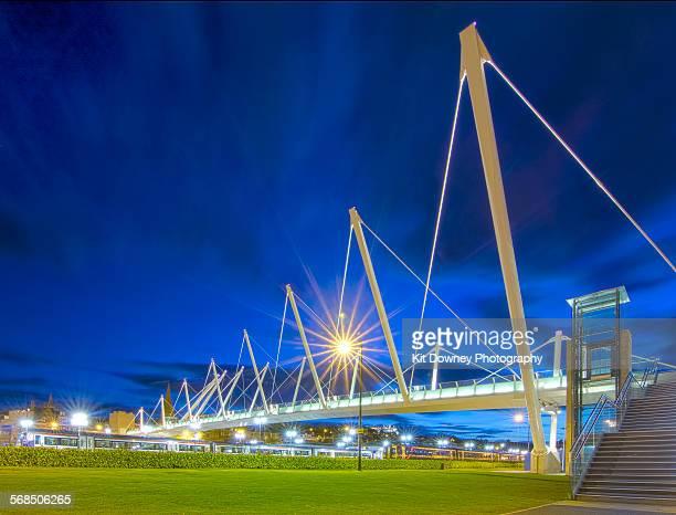 Stirling forthside bridge at night