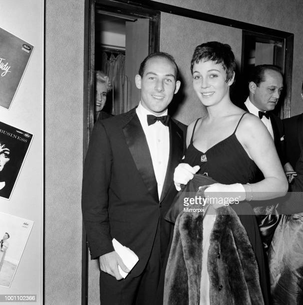Stirling Moss and his wife Katie at a Judy Garland show at the Dominion Theatre 17th October 1957