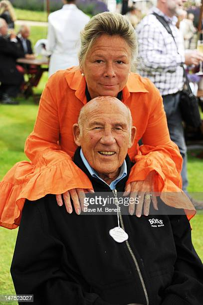 Stirling Moss and Susie Moss attend the Cartier Style Luxury Lunch Reception at the Goodwood Festival of Speed on July 1 2012 in Chichester England