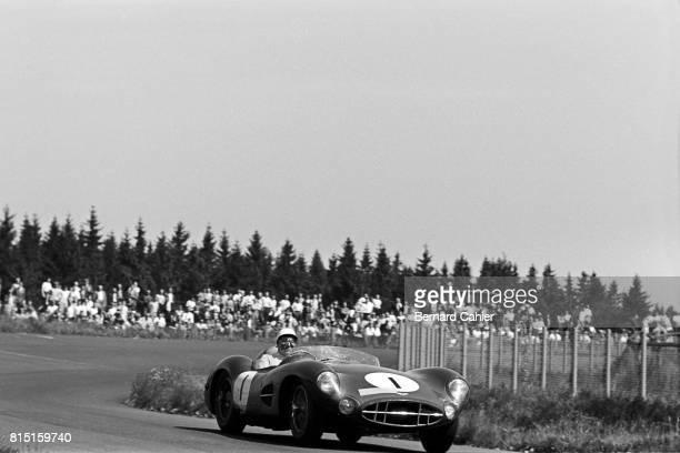 Stirling Moss, Aston Martin DBR1, 1000 Km of Nurburgring, Nurburgring, Germany, June 1, 1958.