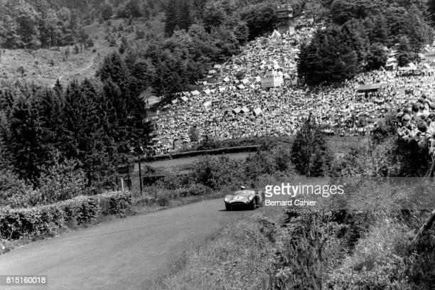 Stirling Moss, Aston Martin DBR1, 1000 Km of Nurburgring, Nurburgring, Germany, June 7, 1959.