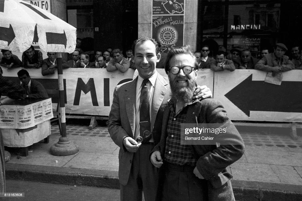 Moss, Jenkinson, Mille Miglia : News Photo