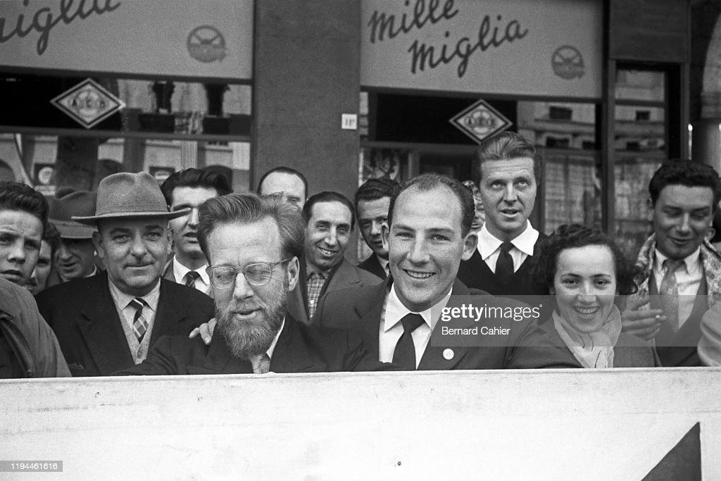 Stirling Moss, Dennis Jenkinson, Mille Miglia : News Photo