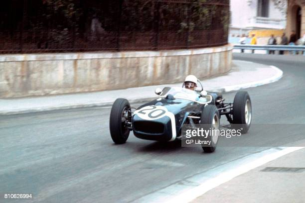 Stirling Moss driving a Lotus 18 at Monaco GP 1st