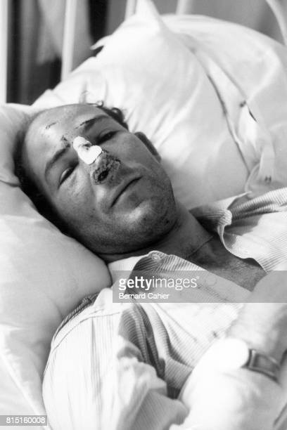 Stirling Moss Grand Prix of Belgium at Circuit de Spa Francorchamps Stavelot Belgium June 19 1960 Moss in his hospital bed after his accident during...