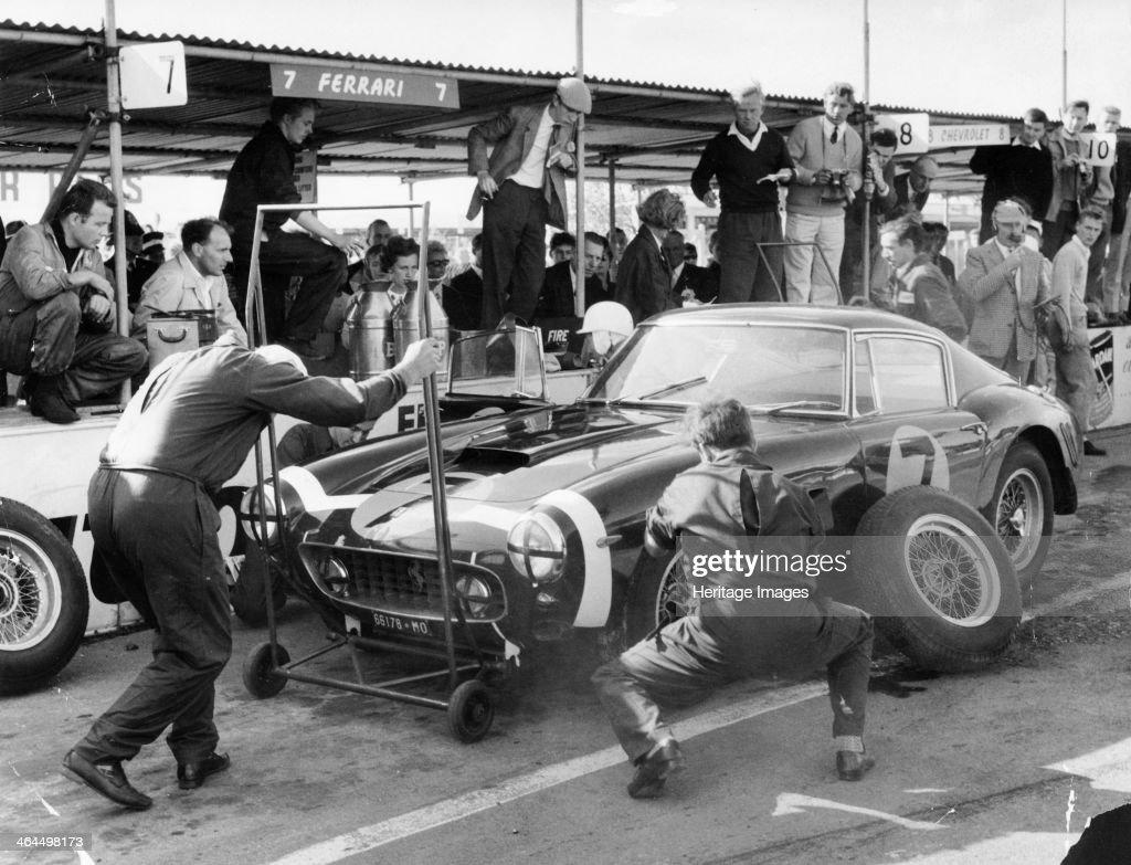 Stirling Moss in a Ferrari, Goodwood, 1961. : News Photo