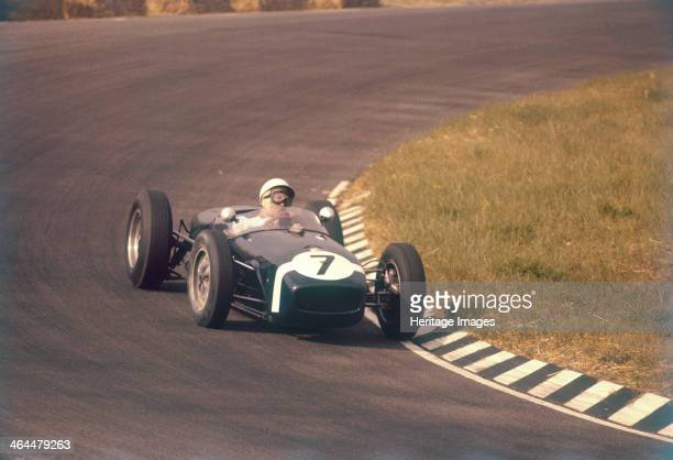 Stirling Moss in a Lotus 18, Dutch Grand Prix, Zandvoort, 1960. He finished fourth after having qualified in pole position. Moss began his career in...