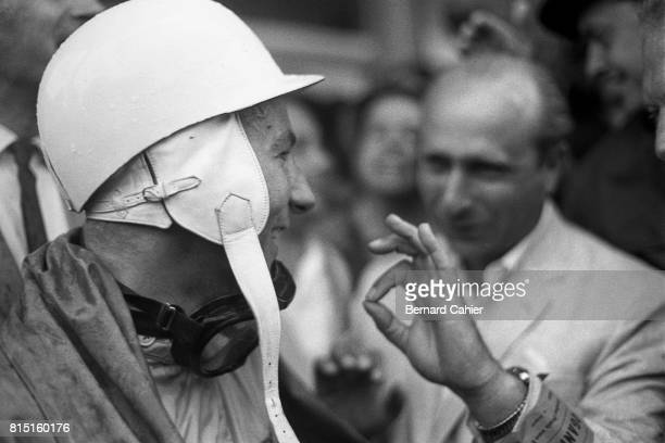 Stirling Moss, Juan Manuel Fangio, Grand Prix of Germany, Nurburgring, Germany, August 6, 1961.