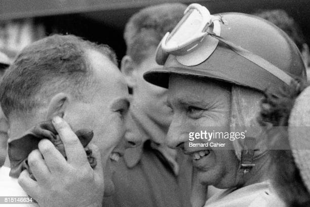Stirling Moss Juan Manuel Fangio Grand Prix of Great Britain Aintree England July 16 1955