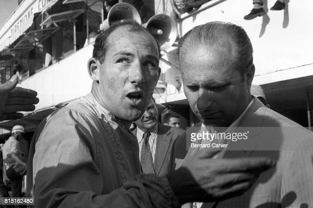 Stirling Moss Juan Manuel Fangio Grand Prix of Italy Monza Italy September 7 1958
