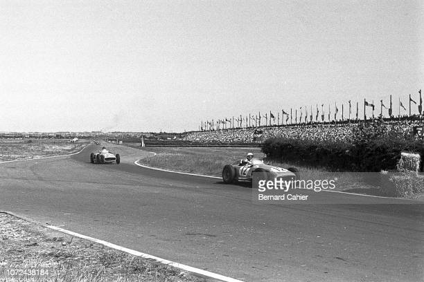Stirling Moss Juan Manuel Fangio Mercedes W196 Grand Prix of Great Britain Aintree Motor Racing Circuit 16 July 1955 The 1955 British Grand Prix in...