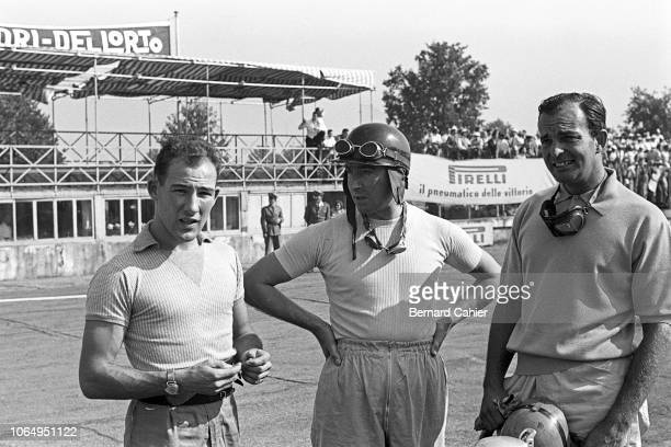 Stirling Moss Ken Wharton Harry Schell Grand Prix of Italy Autodromo Nazionale Monza 13 September 1953 Stirling Moss with Ken Wharton and Harry...