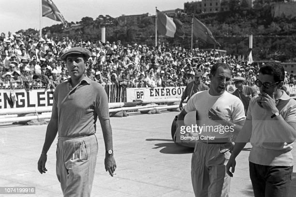 Stirling Moss Luigi Musso Eugenio Castellotti Grand Prix of Monaco Circuit de Monaco 13 May 1956 Stirling Moss with Ferrari drivers Eugenio...