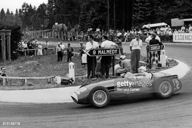 Stirling Moss Maserati 250F Grand Prix of Belgium at Circuit de Spa Francorchamps Stavelot Belgium June 20 1954