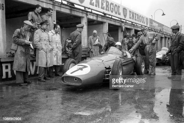 Stirling Moss, Maserati 250F, Grand Prix of Germany, Nurburgring, 05 August 1956. Stirling Moss during practice for the 1956 German Grand Prix.