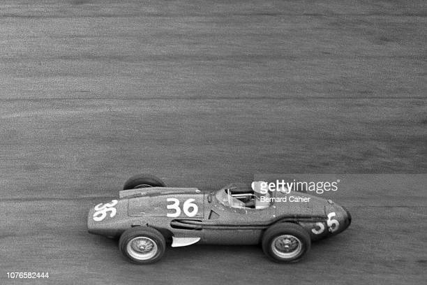Stirling Moss, Maserati 250F, Grand Prix of Italy, Autodromo Nazionale Monza, 02 September 1956. Stirling Moss on the way to victory in the 1956...