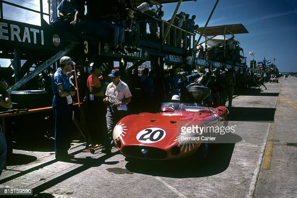 Stirling Moss Maserati 300S Grand Prix of Sebring Sebring Florida March 23 1957