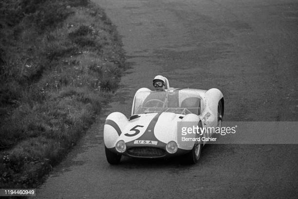 Stirling Moss, Maserati Tipo 61, Nürburgring 1000 Kilometres, Nurburgring Nordschleife, 22 May 1960. Stirling Moss on the way to victory in the 1960...
