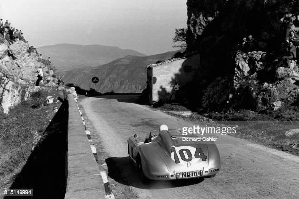 Stirling Moss Mecedes 300 SLR Targa Florio Sicily Italy October 16 1955