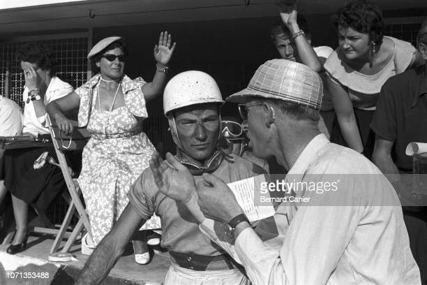 Stirling Moss, Mercedes W196, Grand Prix of Italy, Autodromo Nazionale Monza, 11 September 1955. Stirling Moss has just retired during the 1955...