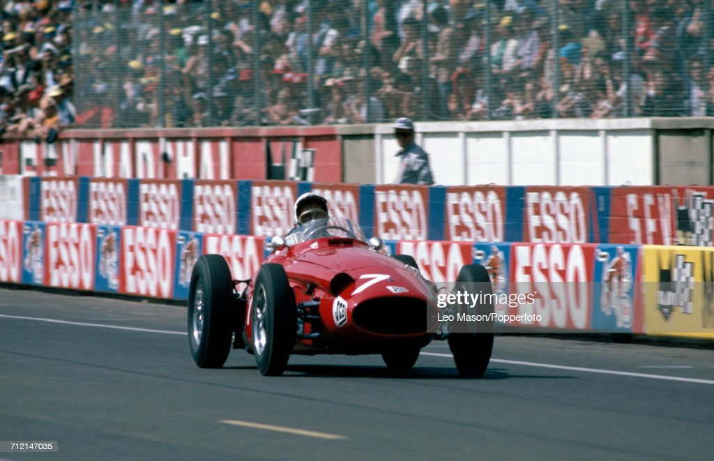 Stirling Moss of Great Britain driving a Maserati 250F to victory in the FIA European Historic Championship at Le Mans in France on 10th June 1978.