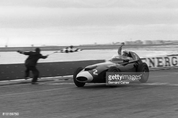 Stirling Moss Vanwall VW 5 Grand Prix of Portugal at Circuito da Boavista Porto Portugal August 24 1958