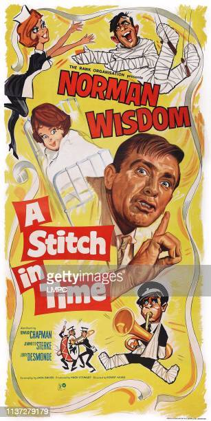 A Stitch In Time poster British poster art Norman Wisdom 1963