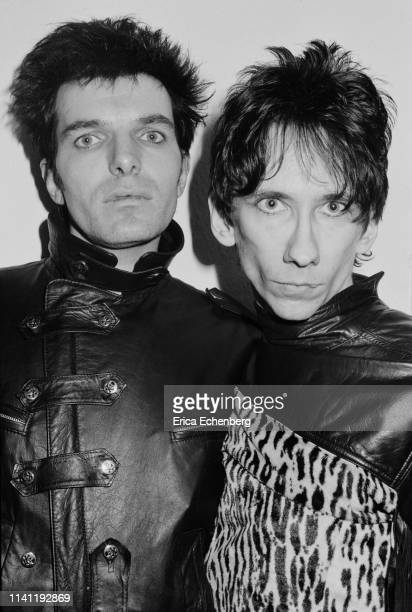 Stiv Bators and Brian James Lords of The New Church studio shoot west London 1982