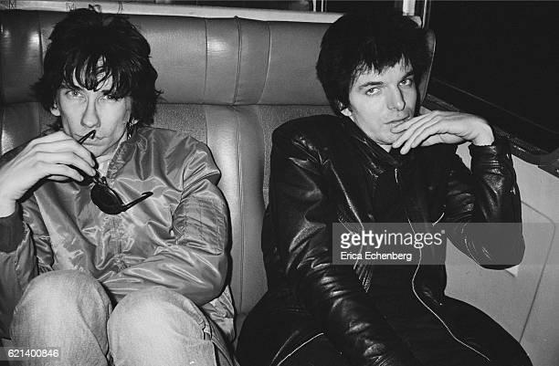 Stiv Bators and Brian James portrait New York USA January 1980