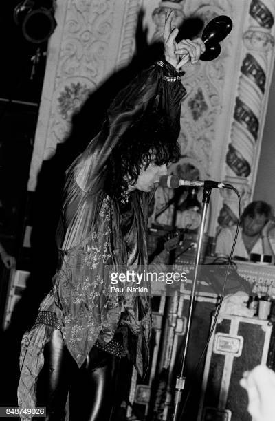 Stiv Bators of Lords of the New Church singing at the Metro in Chicago Illinois May 22 1985
