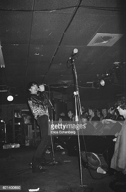 Stiv Bators performs on stage New York USA January 1980