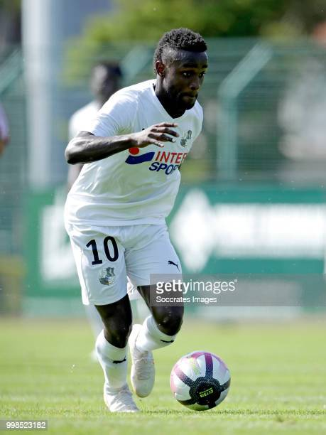 Stiven Mendoza of Amiens SC during the Club Friendly match between Amiens SC v UNFP FC at the Centre Sportif Du Touquet on July 13 2018 in Le Touquet...