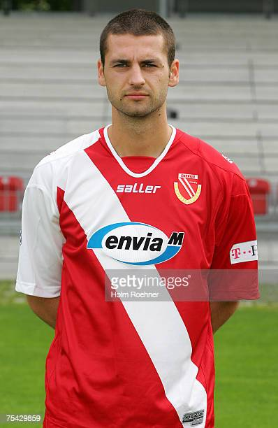 Stiven Rivic poses during the Bundesliga 2nd Team Presentation of FC Energie Cottbus on July 13 2007 in Jena Germany
