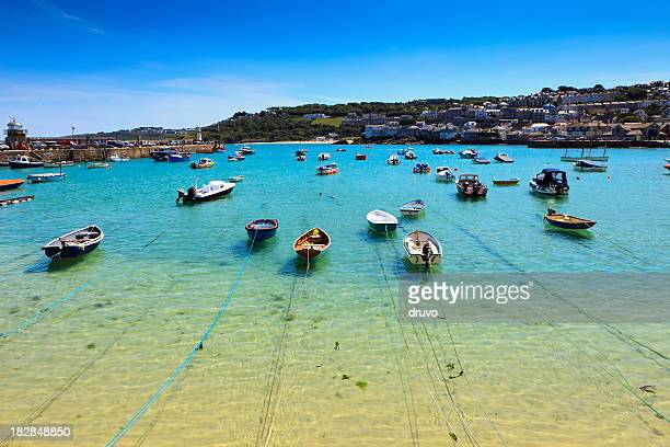 st.ives harbor - cornwall england stock pictures, royalty-free photos & images