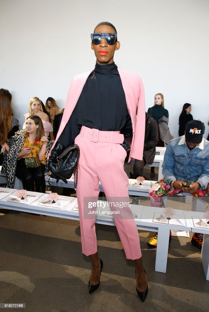 Stixx attends Leanne Marshall show during February 2018 New York Fashion Week: The Shows at Gallery II at Spring Studios on February 14, 2018 in New York City.